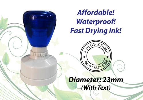 Round Flash Stamp  Size: (23mm x 23mm)