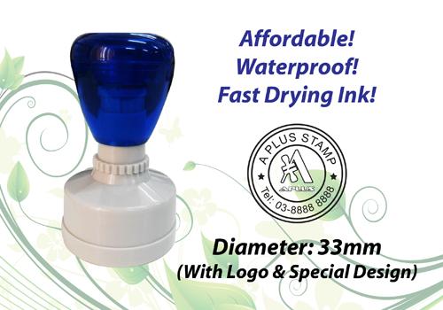 Round Flash Stamp  Size: (33mm x 33mm)