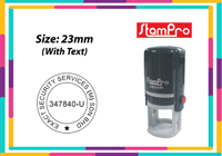 Round Self Inking Size: (23mm x 23mm)