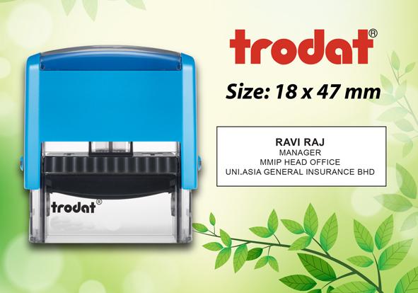 Trodat 4912  Size: (18mm x 47mm)