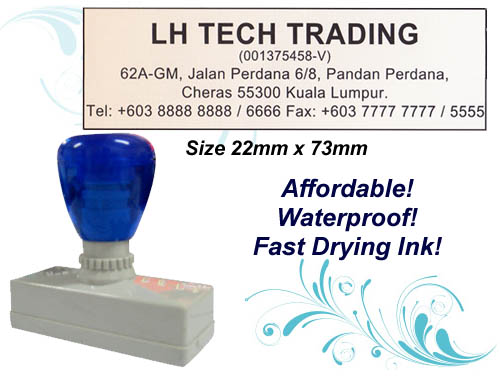 Flash Stamp Size: (22mm x 73mm)