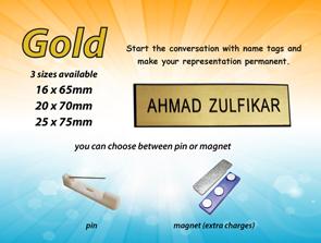 Gold Nametag