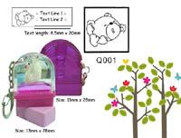 Q001 Stamp Size: 13mm x 28mm (8.5 x 20)