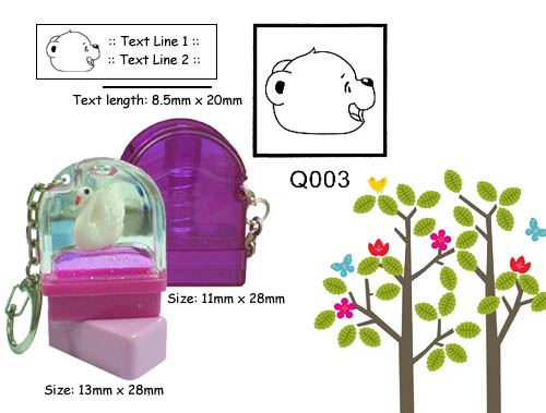 Q003 Stamp Size: 13mm x 28mm