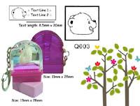 Q003 Stamp Size: 13mm x 28mm (8.5 x 20)
