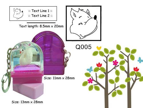 Q005 Stamp Size: 13mm x 28mm (8.5 x 20)