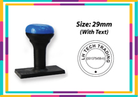 N8 Round Rubber  Stamp R32 