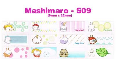 S09 100 pcs Mashimaro Sticker: (9mm x 22mm)