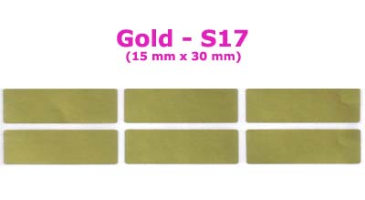 S17 100 pcs Gold Sticker:(15mm x 30mm)
