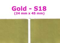 S18 100 pcs Gold Sticker:(24mm x 45mm)