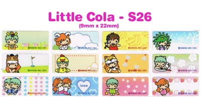 S26 100 pcs Little Cola Sticker: (9mm x 22mm)