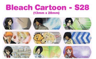 S28 100 pcs Bleach Sticker: (13mm x 28mm)