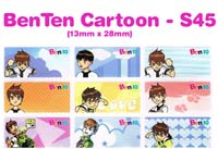 S45 100 pcs BenTen Sticker: (13mm x 28mm)