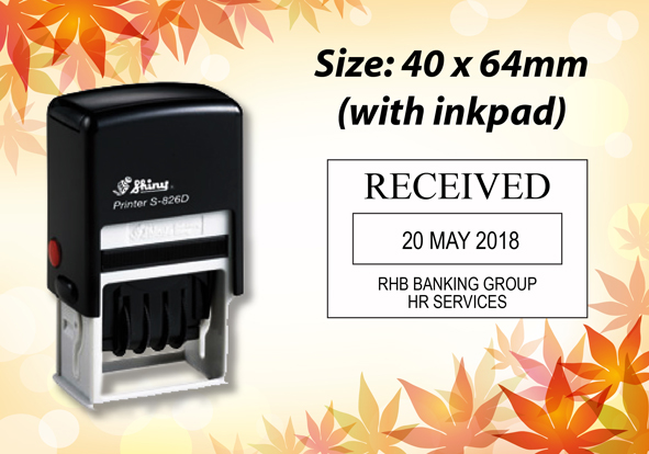 Self Inking Dater Size: (40mm x 64mm)