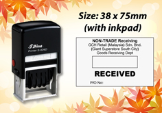 Self Inking Dater Size: (38mm x 75mm)