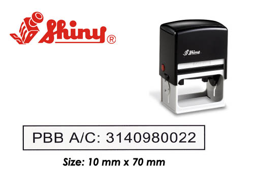 S831_Self Inking Stamp: (10mm x 70mm)