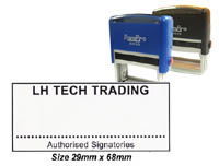 SP5_4535 Self Inking Stamp: (29mm x 68mm)