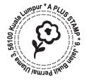 SR002 Self Return Address - Flower(38mm)