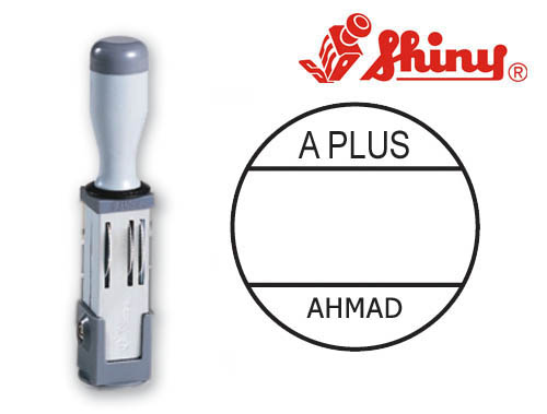 Round Dater Stamp Dia: (19mm)Without Ink Pad
