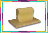 Wood Stamp  Size: (62mm x 70mm)