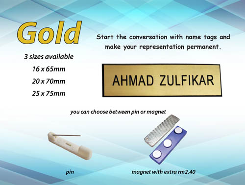 NT2070 GOLD (20mm x 70mm)